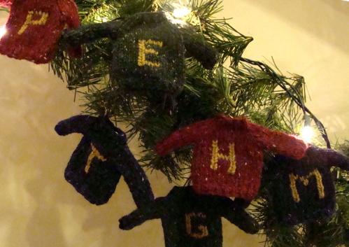 Weasley Sweater Ornaments