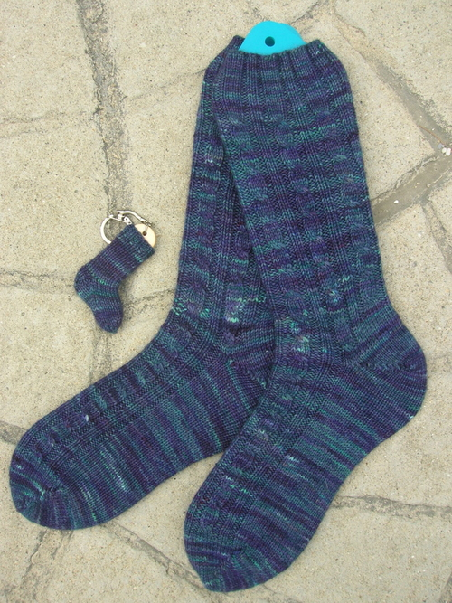 Sockapalooza 4 Sock Angel Rib and Cable Socks