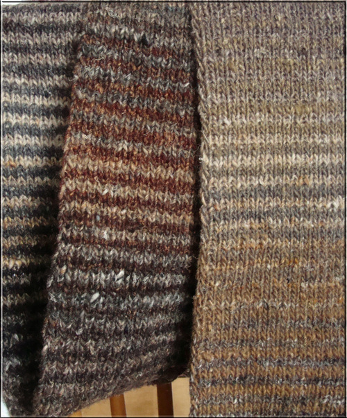 Noro Striped Scarf in Browns